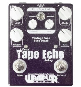Best Wampler Faux Delay Guitar Pedals With Tap Tempo