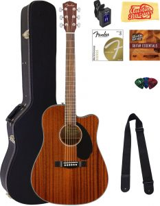 top rated Fender CD-60SCE guitar for beginners adults