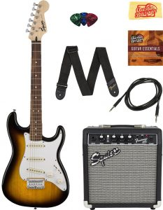 best Fender Squire Stratocaster guitar for beginner adults
