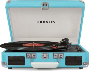 best Crosley CR8005D-TU affordable record player with built in speakers