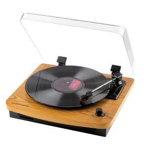 best Musitrend affordable record player built in speakers