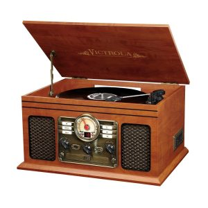 top rated Victrola Nostalgic affordable record player with speakers